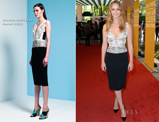 Jennifer Lawrence In Narciso Rodriguez Resort 2013 - Hollywood Foreign Press Association's 2012 Installation Luncheon