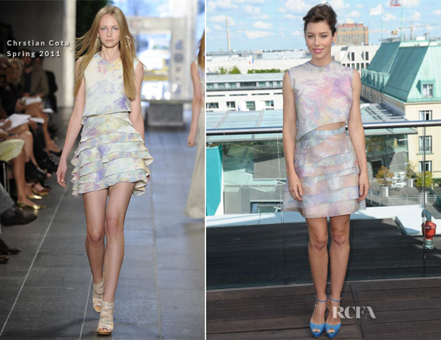 Jessica Biel In Christian Cota - 'Total Recall' Berlin Photocall