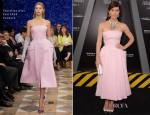 Jessica Biel In Christian Dior Couture - 'Total Recall' LA Premiere
