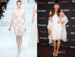 Jessica Biel In Elie Saab Couture - 'Total Recall' New York Screening