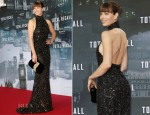 Jessica Biel In Elie Saab - 'Total Recall' Berlin Premiere
