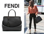 Jessica Biel's Fendi 2Jours Elite Leather Shopper