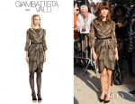 Jessica Biel's Giambattista Valli Silk Ocelot Dress
