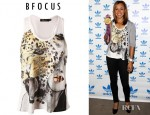 Jessica Ennis' Bfocus Cat Woman Racer Back Tank Top