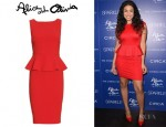 Jordin Sparks' Alice + Olivia Tracey Peplum Dress