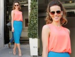 Kate Beckinsale In H&M and Diane von Furstenberg - RTE TV Studios