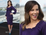 Kate Beckinsale In Zac Posen - 'Total Recall' Berlin Photocall