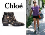 Kate Walsh's Chloé Studded Ankle Boots