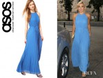 Katherine Jenkins' Ted Baker Pleat Maxi Dress
