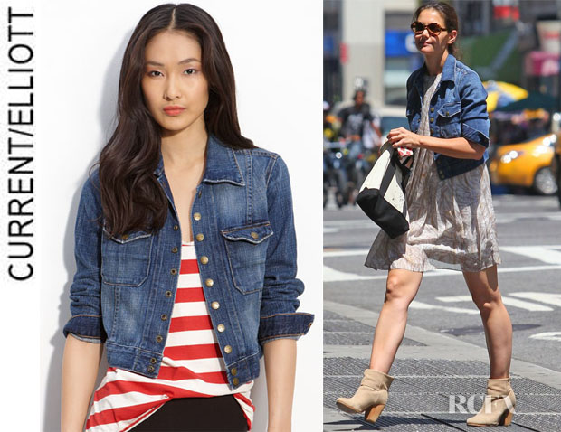 Katie Holmes' CurrentElliott The Snap Denim Jacket