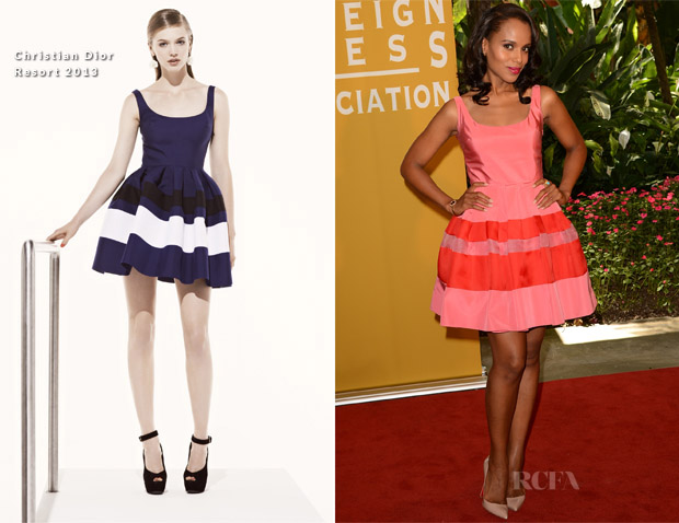Kerry Washington In Christian Dior - Hollywood Foreign Press Association's 2012 Installation Luncheon