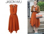 Leighton Meester's Jason Wu Vallonia Silk Print Dress