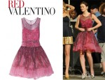 Leighton Meester's Red Valentino Animal Print Silk Chiffon Dress