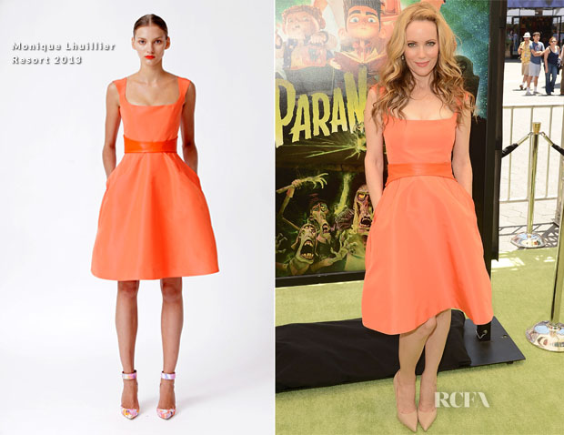 Leslie Mann In Monique Lhuillier - 'ParaNorman' LA Premiere