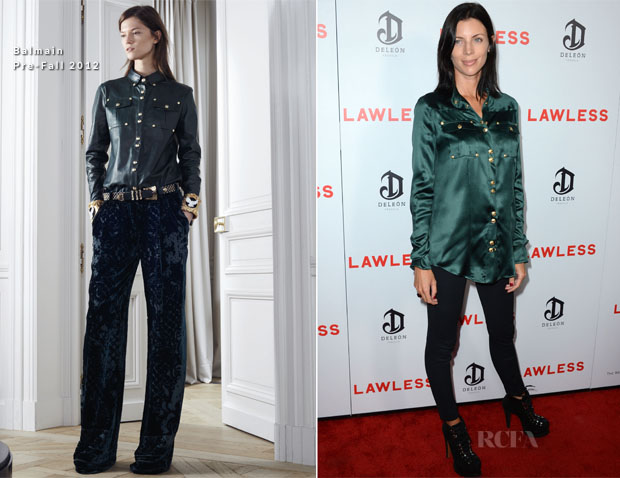 Liberty Ross In Balmain - 'Lawless' Premiere