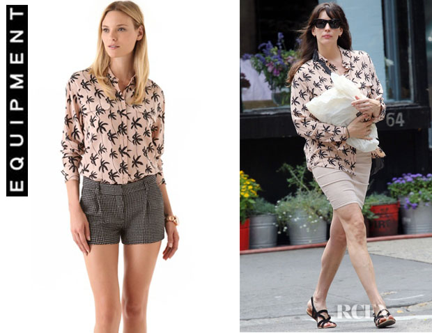 Liv Tyler's Equipment Signature Silk Shirt