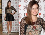 Lucy Hale In Topshop & Free People - Henri Bendel Las Vegas Grand Opening