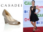 Lucy Liu's Casadei Mud Wedges