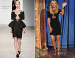 Maria Sharapova In David Koma - Late Night with Jimmy Fallon