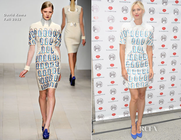 Maria Sharapova In David Koma - Sugarpova Launch
