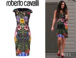 Megan Fox's Roberto Cavalli Emerald Wild Carnation Dress