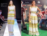 Michelle Jenner In Giambattista Valli - 'Las Aventuras de Tadeo Jones' Madrid Premiere