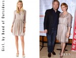 Michelle Williams' Girl. by Band of Outsiders Long Sleeve Babydoll Dress