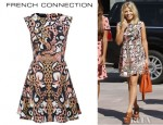 Mollie King's French Connection Wild Fire Sleeveless Dress