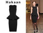 Natalia Vodianova's Hakaan Bunky Stretch Crepe Peplum Dress