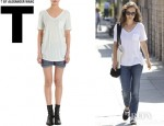 Natalie Portman's T by Alexander Wang Classic Short Sleeve Pocket Tee