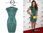 Nikki Reed's McQ Alexander McQueen Cable Print Cap Sleeve Dress