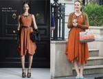 On The Gossip Girl Set With Leighton Meester In Jason Wu