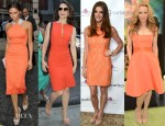 Celebrities Love...Orange Dresses