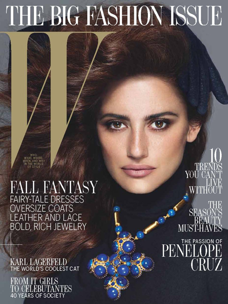 Penelope Cruz W magazine September 2012 cover