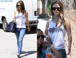 Rachel Bilson In Zoe Karssen - Out In LA