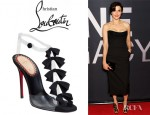 Rachel Weisz' Christian Louboutin Translucent Bow Bow Patent Leather Sandals