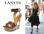 Rachel Zoe's Lanvin Two Tone Wedge Sandals