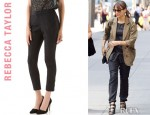 Rashida Jones' Rebecca Taylor Reptilian Trousers