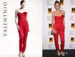 Rebecca Dayan's Valentino Techno Couture Strapless Jumpsuit