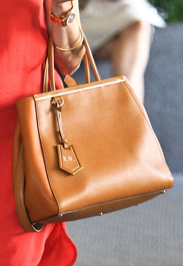 Reese Witherspoon - Fendi '2Jours Elite' Leather Shopper