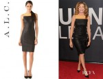 Rene Russo's A.L.C. Mika Leather Dress