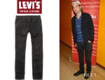 Robert Pattinson's Levi's Vintage Clothing 1960 605 Orange Label Washed Slim-Fit Jeans