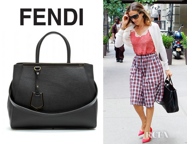 Sarah Jessica Parker's Fendi 2Jours Elite Leather Shopper