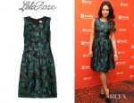 Shay Mitchell's Lela Rose Brushed Fil Coupé Dress