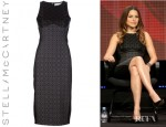 Sophia Bush's Stella McCartney Octavia Jacquard And Jersey Dress
