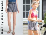 Taylor Swift's Marc by Marc Jacobs Secret Stripe Knit Shorts