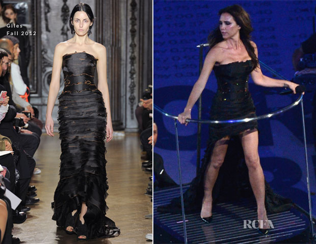 Victoria Beckham In Giles - Olympic Games Closing Ceremony