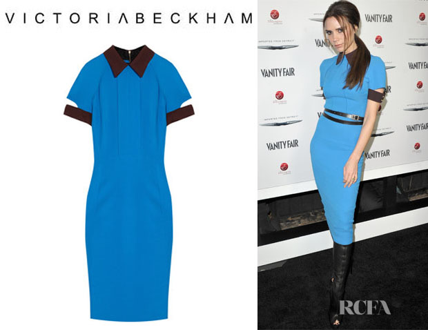 Victoria Beckham's Victoria Beckham Silk And Wool Blend Crepe Dress