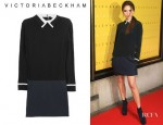 Victoria Beckham's Victoria, Victoria Beckham Studded Silk Crepe And Twill Dress