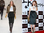 Yoon Eun Hye In Burberry Prorsum - 'I Am a King' Premiere